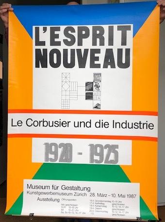LE CORBUSIER - MAX BILL - Poster. L'Esprit Nouveau. Le Corbusier und die Industrie.