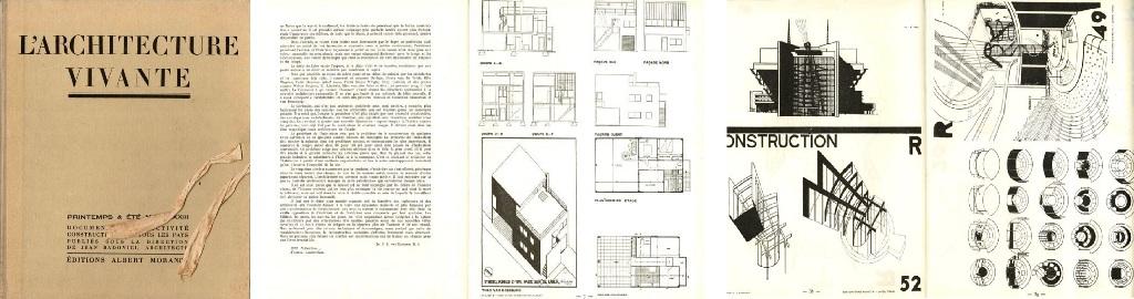 BADOVICI, JEAN DIRECTION / VAN LOGHEM J.B. - L'architecture vivante, documents sur l'activité constructive dans tous les pays publiés sous la direction de Jean Badovici - Printemps & Eté MCMXXXIII. Numéro 39.