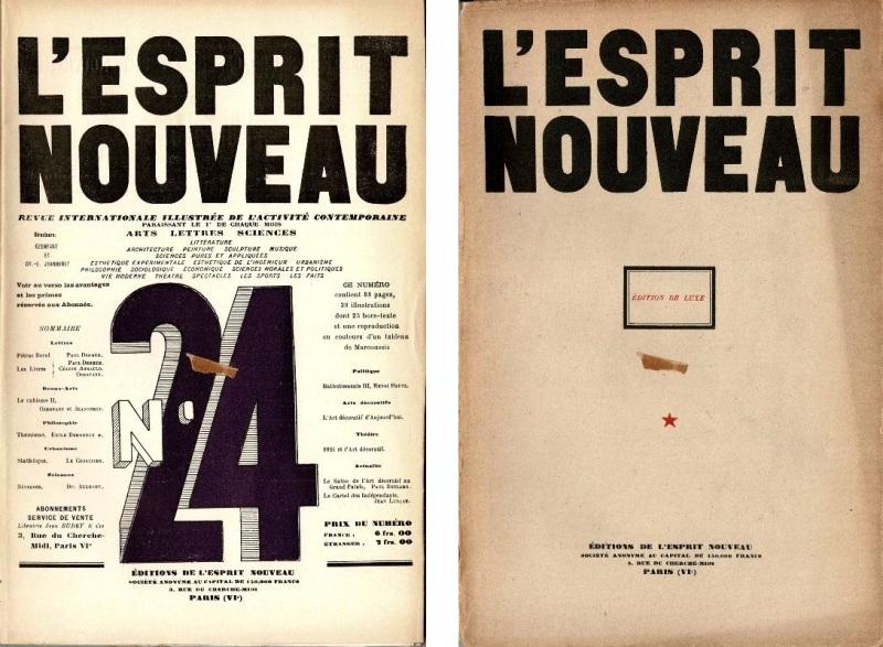 L'ESPRIT NOUVEAU NO. 24. - Édition de Luxe. Revue internationale illustrée de l'activité contemporaine. Juin, 1924