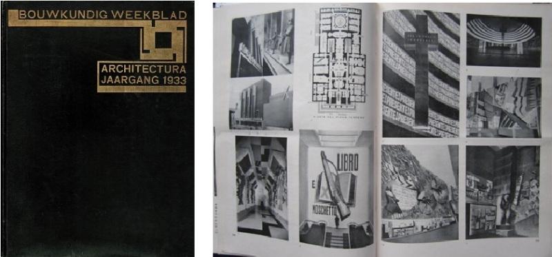 BOUWKUNDIG WEEKBLAD ARCHITECTURA. - Orgaan van de Maatschappij tot bevordering der Bouwkunst. Jaargang 54, 1933.