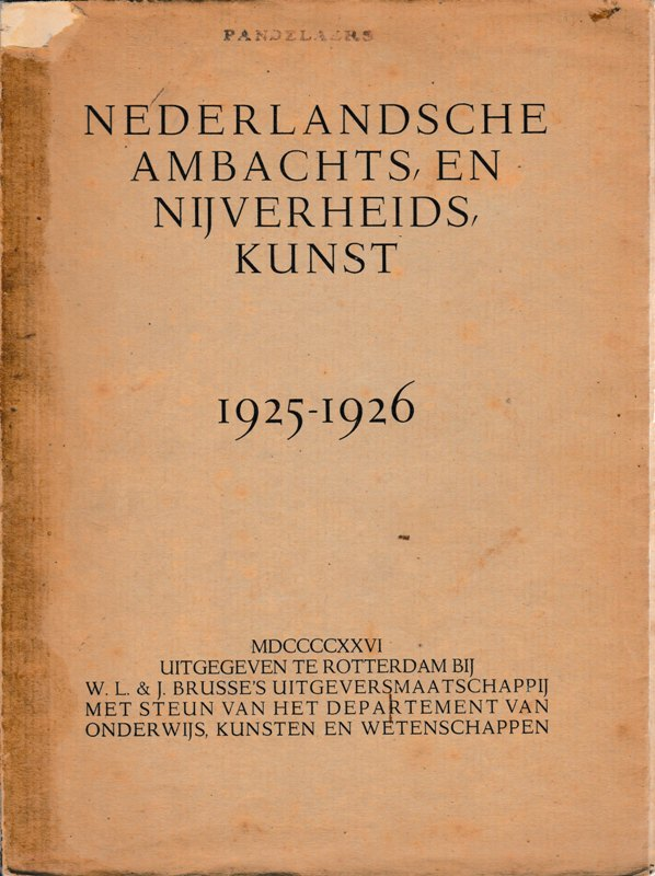 V.A.N.K.JAARBOEK. 1925-1926. - Nederlandsche Ambachts-en Nijverheidskunst 1925-1926.
