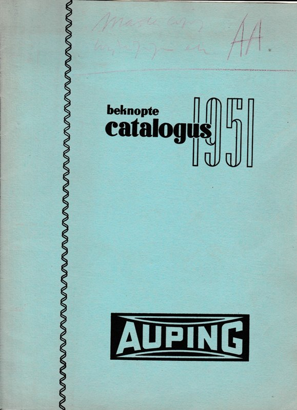 AUPING. - Beknopte catalogus 1951.