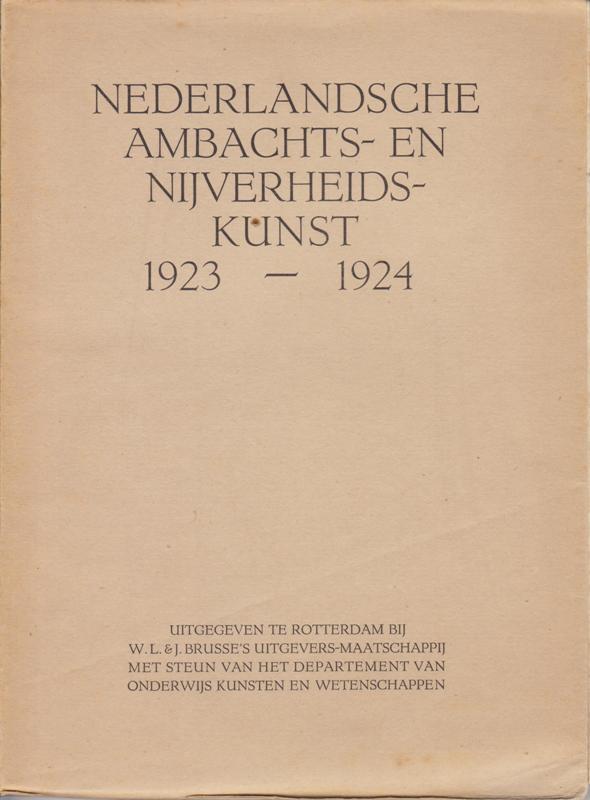 V.A.N.K. JAARBOEK 1923-1924. - Nederlandsche Ambachts-en Nijverheidskunst.