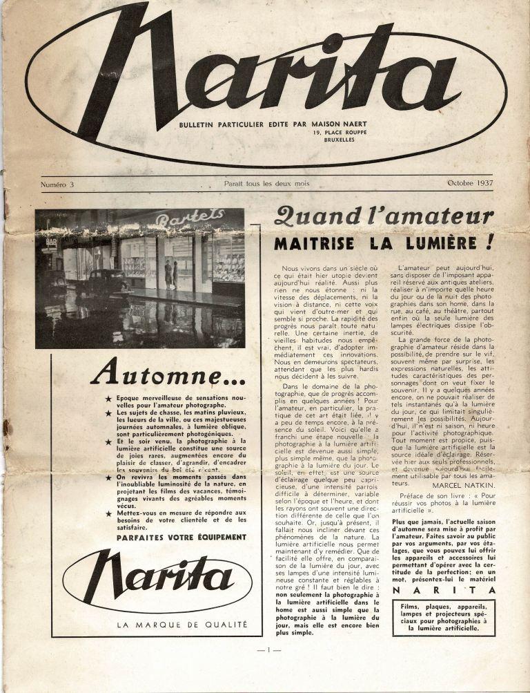 N/A - Narita. Bulletin particulier edite par maison Naert.