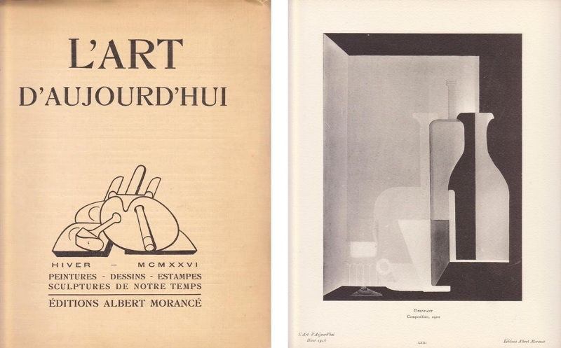 L'ART D'AUJOURD'HUI. - Troisième Année, nr.12. E.O.Friesz, Pablo Gargallo, Ozenfant.