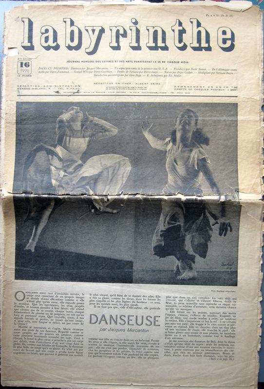 LABYRINTHE. N° 16 - 15 JANVIER 1946. - LABYRINTHE.