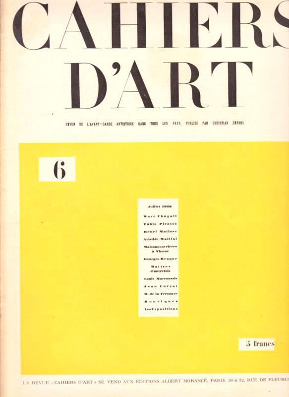 N/A. - Cahiers D'Art. 1926,Nr.6.