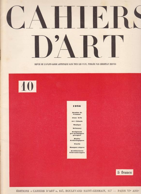 N/A. - Cahiers D'Art. 1926,Nr.10.