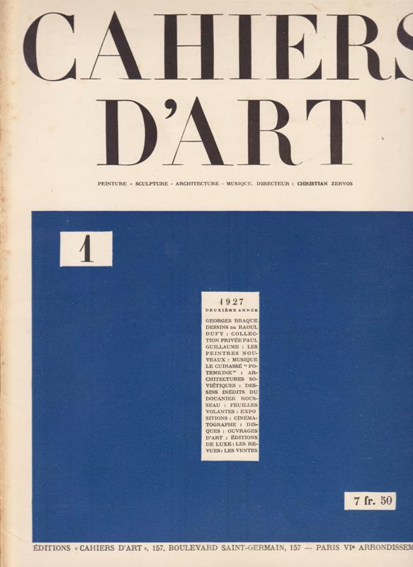 N/A. - Cahiers D'Art. 1927,Nr.1. (deuxieme Année)