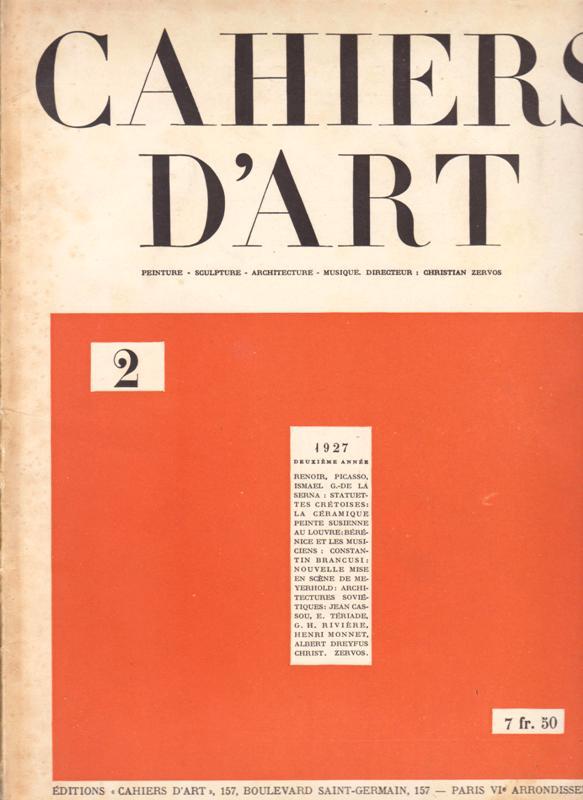 N/A. - Cahiers D'Art. 1927,Nr.2.