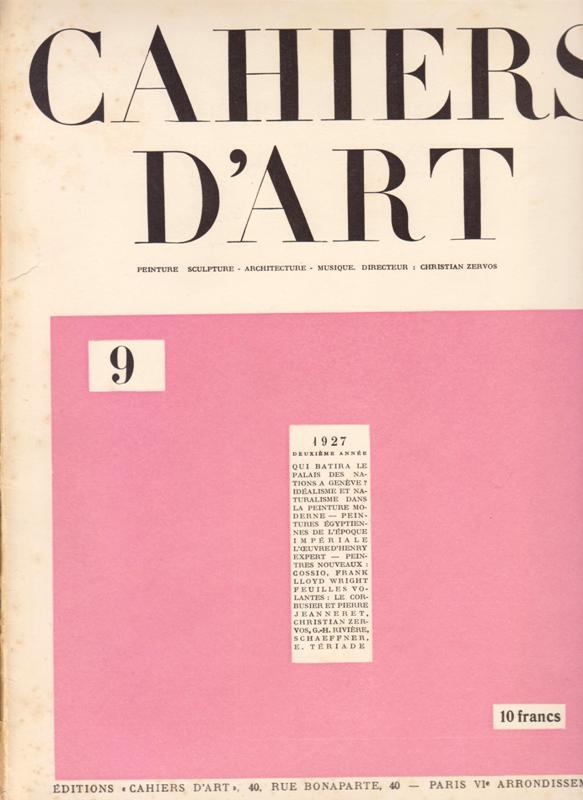 N/A. - Cahiers D'Art. 1927,Nr.10.